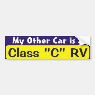 """Mi otro coche es una clase """"C"""" rv Pegatina De Parachoque"""