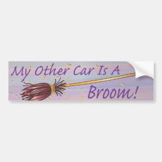 Mi otro coche es una escoba 6 - pegatina de Bumber Pegatina De Parachoque