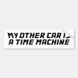 Mi otro coche es una máquina de tiempo pegatina para auto