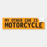 Mi otro coche es una motocicleta pegatina de parachoque
