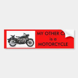 Mi otro coche es una motocicleta pegatina para auto