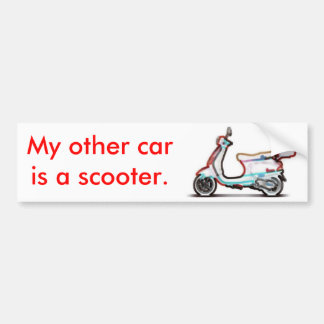 Mi otro coche es una vespa etiqueta de parachoque