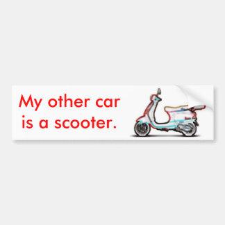 Mi otro coche es una vespa pegatina para auto