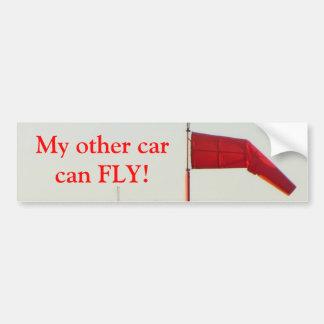 Mi otro coche puede volar la etiqueta engomada de etiqueta de parachoque