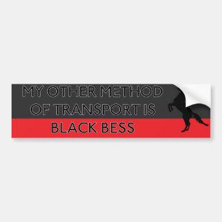 Mi otro método de transporte es Bess negro Pegatina Para Auto