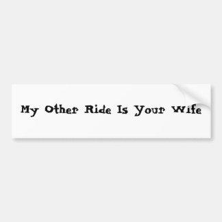 Mi otro paseo es su esposa pegatina para auto
