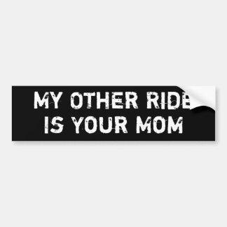 Mi otro paseo es su mamá pegatina para auto