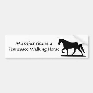 Mi otro paseo es un caballo que camina de Tennesse Pegatina De Parachoque
