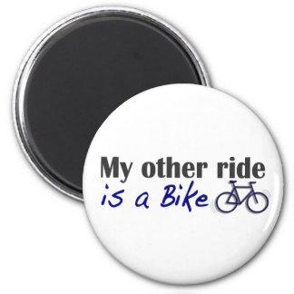 Mi otro paseo es una bici imán redondo 5 cm