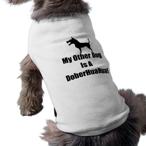 ¡Mi otro perro es un DoberHuaHua! Playera Sin Mangas Para Perro