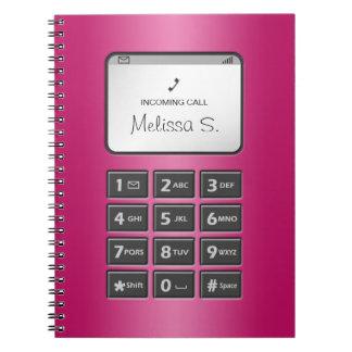 Mi otro teléfono - cuaderno fucsia