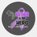 Mi padre es mi héroe - cinta púrpura pegatina