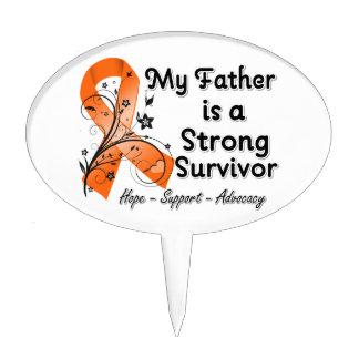 Mi padre es una cinta fuerte del naranja del super figura de tarta