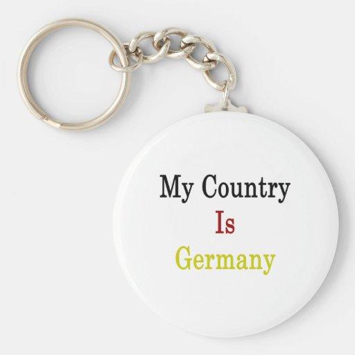 Mi país es Alemania Llavero Redondo Tipo Pin