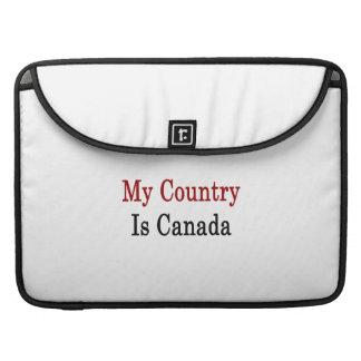 Mi país es Canadá Funda Para Macbooks