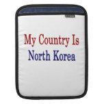 Mi país es Corea del Norte Fundas Para iPads