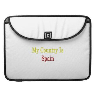 Mi país es España Funda Para Macbook Pro