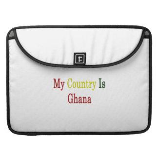 Mi país es Ghana Fundas Macbook Pro