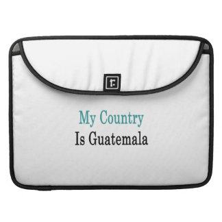 Mi país es Guatemala Fundas Para Macbooks