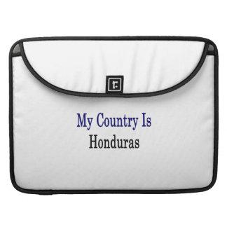 Mi país es Honduras Fundas Para Macbook Pro
