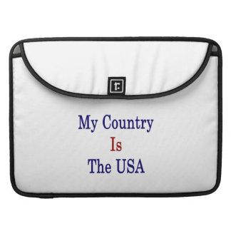Mi país es los E.E.U.U. Funda Macbook Pro