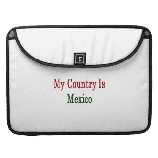 Mi país es México Fundas Macbook Pro