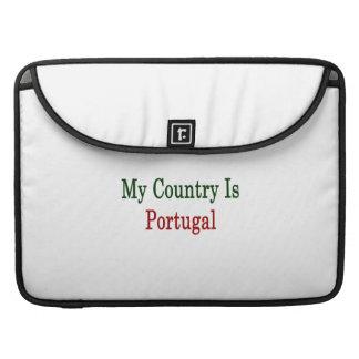 Mi país es Portugal Fundas Para Macbook Pro