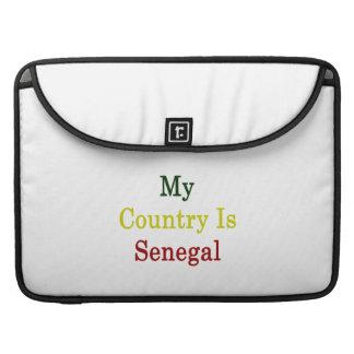 Mi país es Senegal Fundas Para Macbooks