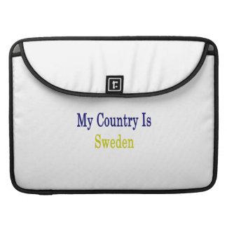 Mi país es Suecia Fundas Para Macbooks