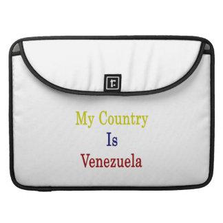 Mi país es Venezuela Funda Para Macbook Pro