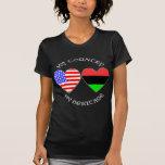 Mi país mi herencia afroamericana camiseta
