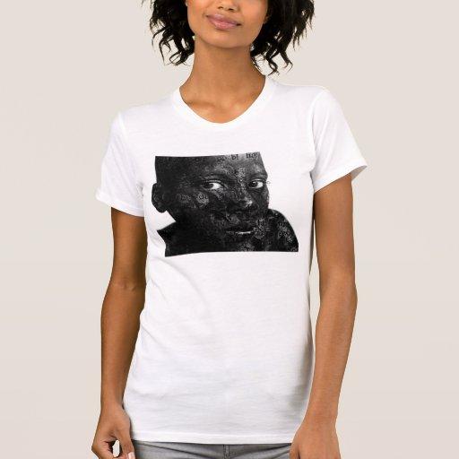 mi palabra en blacq camiseta
