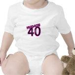 Mi papá 40 traje de bebé