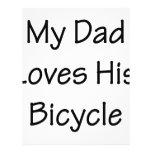 Mi papá ama su bicicleta flyer a todo color