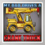 Mi papá conduce una impresión del poster del camió