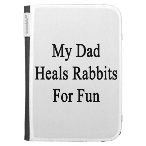Mi papá cura los conejos para la diversión