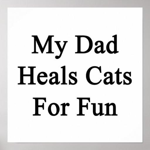 Mi papá cura los gatos para la diversión poster