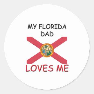 Mi PAPÁ de la FLORIDA me ama Pegatina Redonda