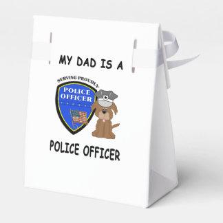 Mi papá de la policía cajas para regalos de fiestas