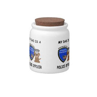 Mi papá de la policía platos para caramelos