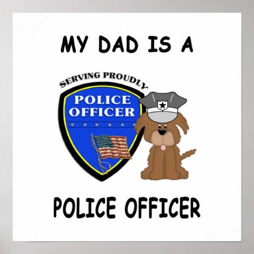 Mi papá de la policía impresiones