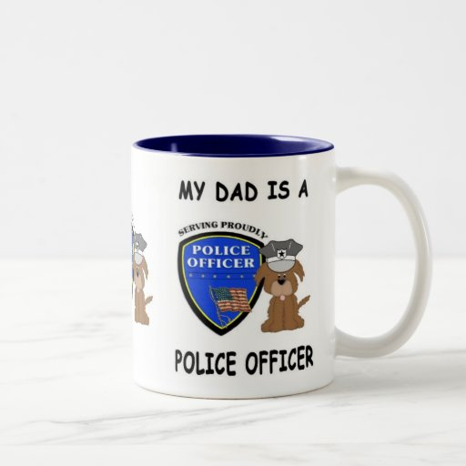 Mi papá de la policía taza de café