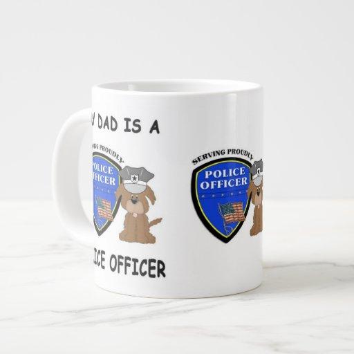 Mi papá de la policía taza grande