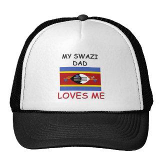 Mi PAPÁ del SWAZI me ama Gorros Bordados