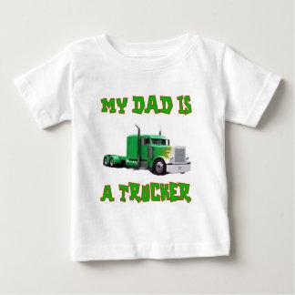 Mi papá es camionero playera de bebé