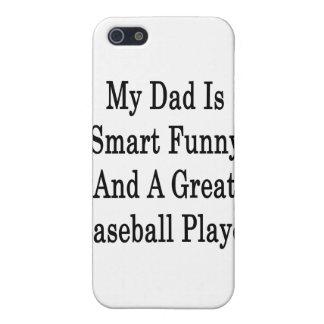 Mi papá es divertido elegante y gran jugador de bé iPhone 5 funda