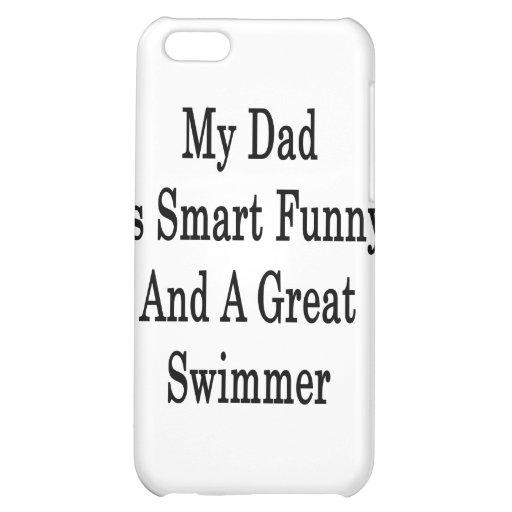 Mi papá es divertido elegante y gran nadador