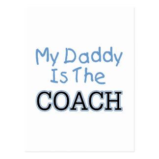 Mi papá es el coche (azul) postal