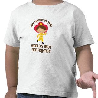 Mi papá es el mejor bombero del mundo camisetas