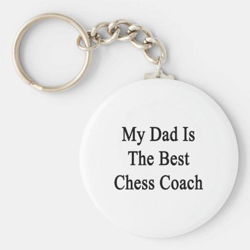 Mi papá es el mejor coche del ajedrez llaveros